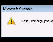 """""""Diese Ordnergruppe kann nicht geöffnet werden. Fehler bei der Anmeldung an Microsoft Exchange"""""""