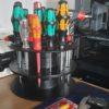 DIY: Schraubenzieher-Halterung aus alten Filamentrollen